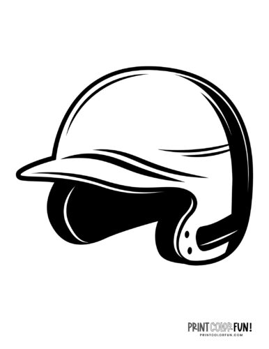 Baseball helmet coloring page