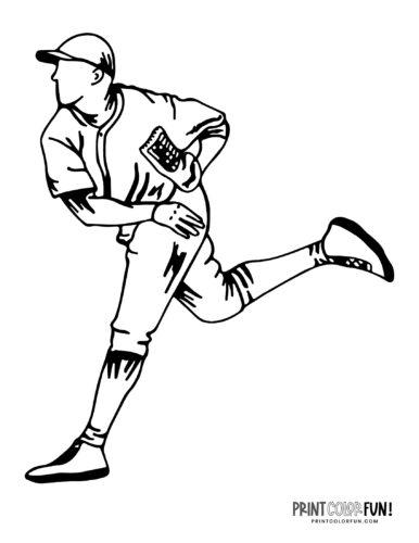 Baseman baseball player coloring