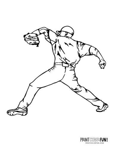 Baseball player coloring page (2)