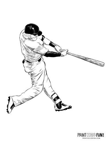 Baseball player coloring page (3)