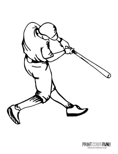Baseball player coloring page (8)