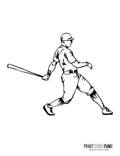 Baseball player coloring page (9)