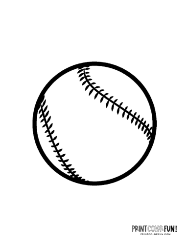 Black and white baseball coloring page (2)