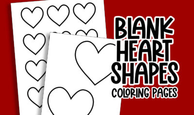 Blank heart shape coloring pages