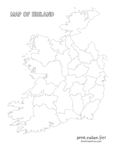 Blank map of Ireland
