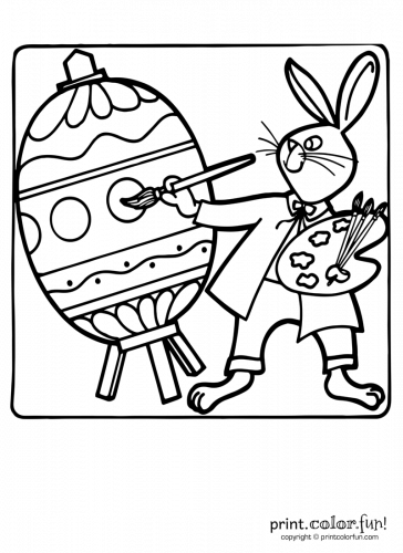 Bunny-painting-an-Easter-egg