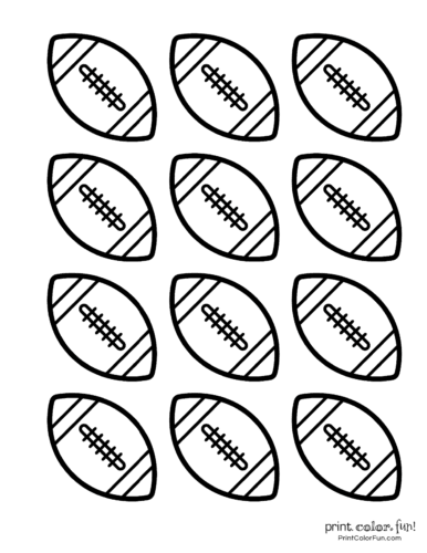 Free football coloring pages and party printables: Footballs ...