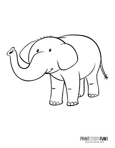 Cartoon elephant coloring pages from PrintColorFun-com (12)