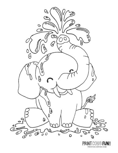 Cartoon elephant coloring pages from PrintColorFun-com (3)