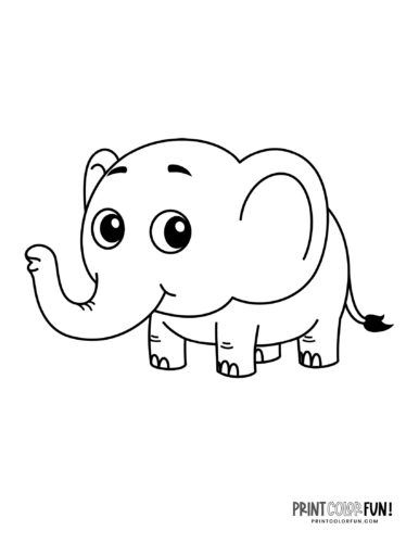 Cartoon elephant coloring pages from PrintColorFun-com (6)