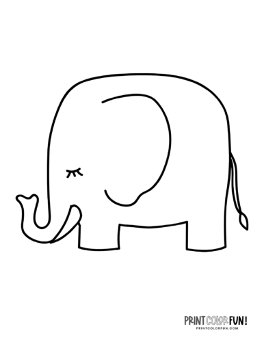 Cartoon elephant coloring pages from PrintColorFun-com (8)