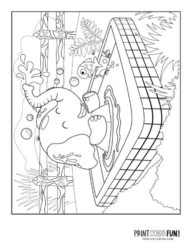 Cartoon elephant coloring pages from PrintColorFun-com (9)