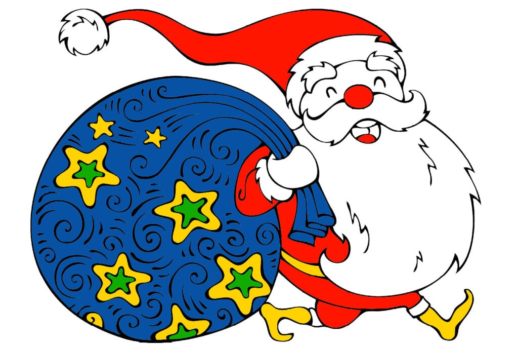 Ccute Santa Claus Christmas coloring pages