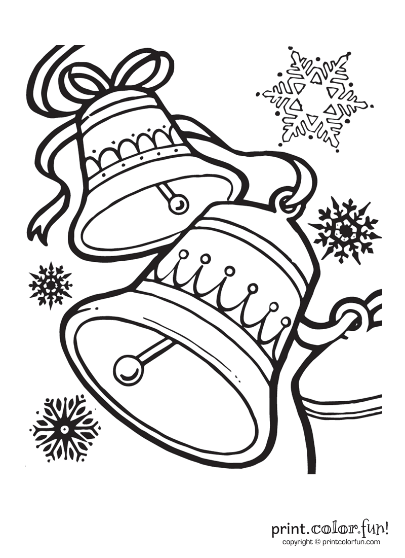 Christmas bells coloring page - Print. Color. Fun!