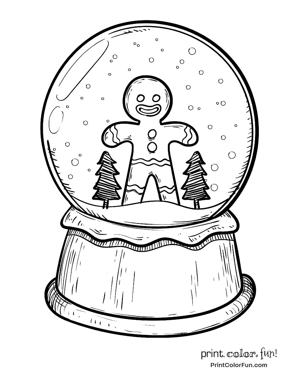 Blank Gingerbread Man Print Color Fun Free Printables Coloring