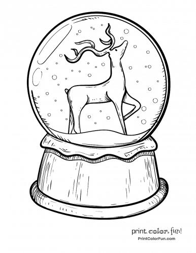 christmas-snow-globe-with-reindeer