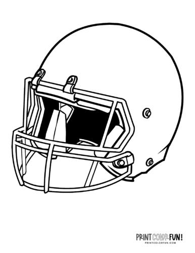Classic American football helmet coloring printable