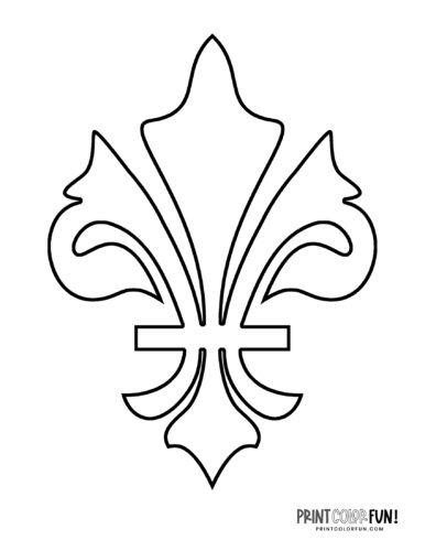 Classic fleur de lis design coloring page (1)