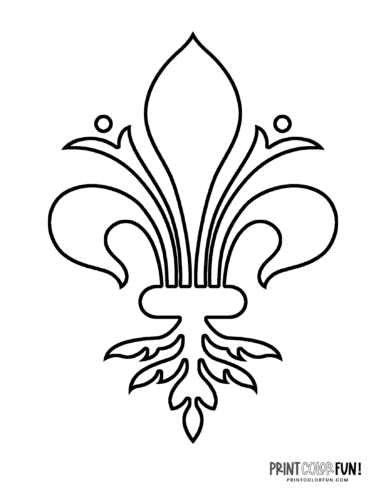 Classic fleur de lis design coloring page (10)