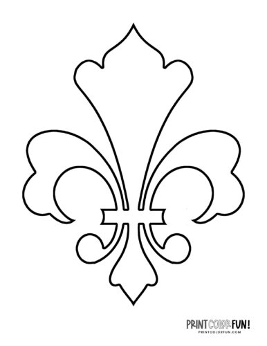 Classic fleur de lis design coloring page (2)
