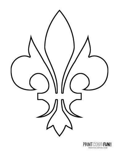 Classic fleur de lis design coloring page (3)
