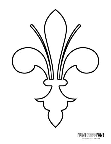 Classic fleur de lis design coloring page (4)