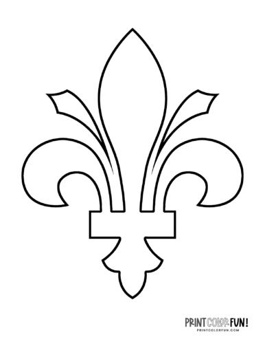 Classic fleur de lis design coloring page (6)