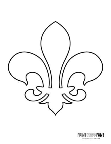 Classic fleur de lis design coloring page (7)