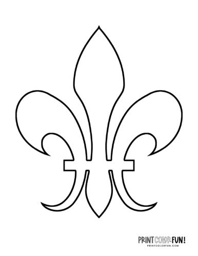 Classic fleur de lis design coloring page (8)