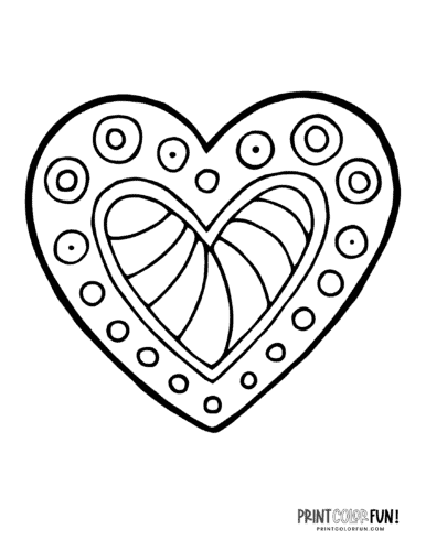 Creative abstract doodle heart coloring page (1)