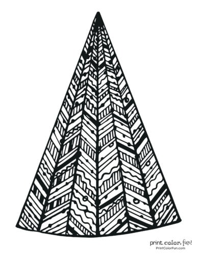 Creative patterned Christmas tree
