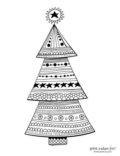 Cute Christmas tree decoration design