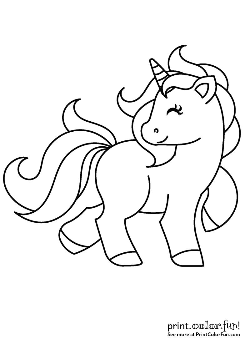 Cute My Little Unicorn coloring page - Print. Color. Fun!