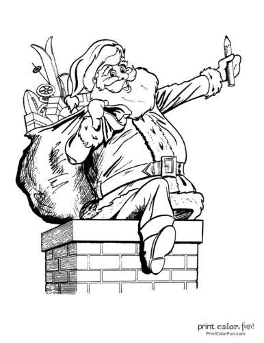 Cute Santa Claus Christmas coloring pages (7)