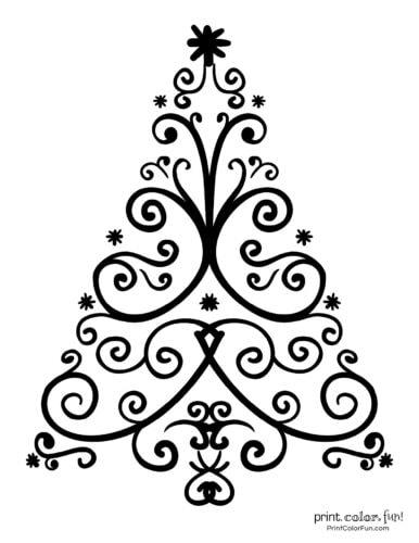 Decorative printable Christmas tree design