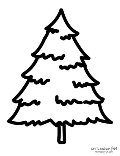 Easy printable Christmas tree coloring pages (1)