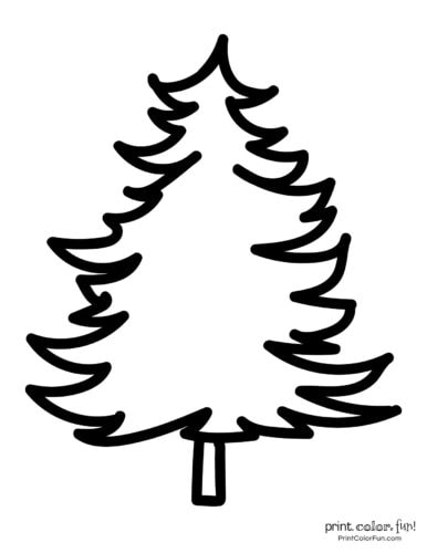 Easy printable Christmas tree coloring pages (3)