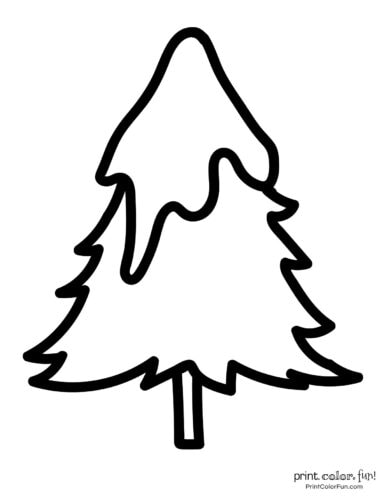 Easy printable Christmas tree coloring pages (5)