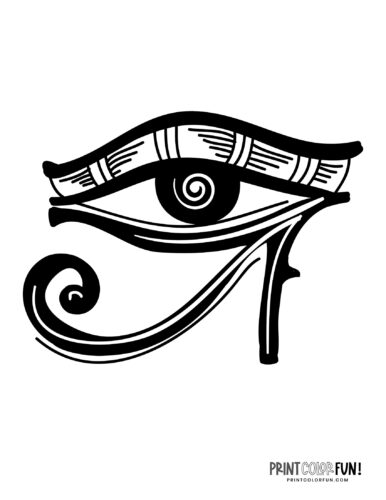 Eye of Horus printable