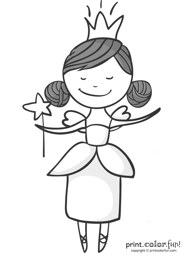 fairy godmother coloring page - fairy godmother coloring page print color fun