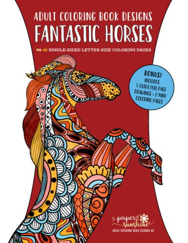 Fantastic Horses - Adult coloring book