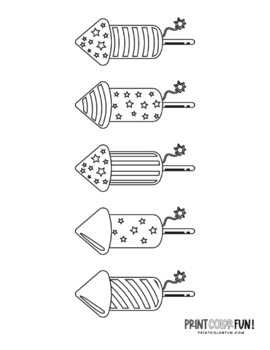 Fireworks coloring page from PrintColorFun com (1)