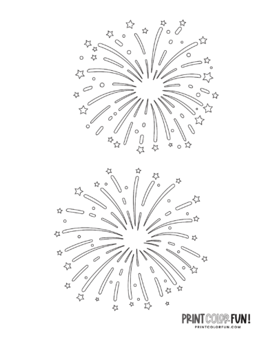 Fireworks coloring page from PrintColorFun com (2)