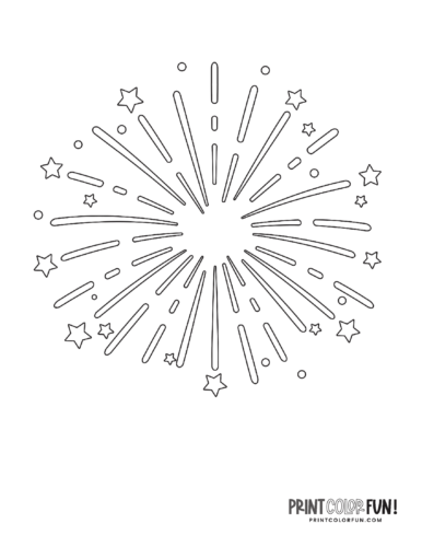 Fireworks coloring page from PrintColorFun com (3)