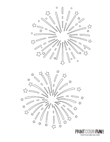 Fireworks coloring page from PrintColorFun com (4)