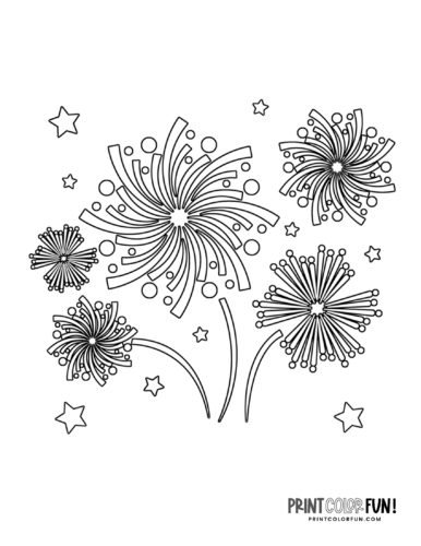 Fireworks coloring page from PrintColorFun com (7)
