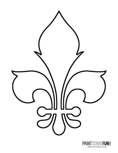 Fleur de lis coloring page (14)