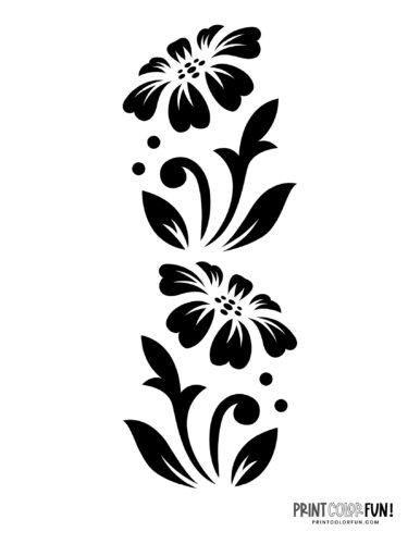 Flower stencil designs - print or craft cut (1)