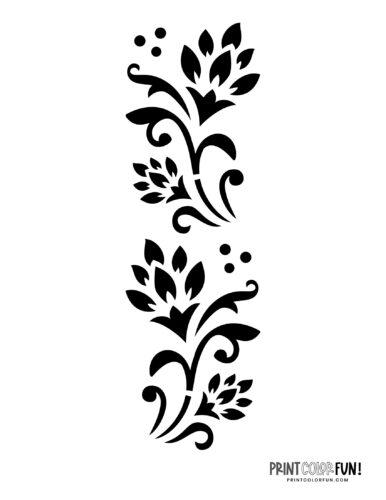 Flower stencil designs - print or craft cut (10)