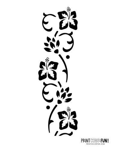Flower stencil designs - print or craft cut (4)
